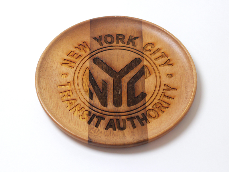 MTA Official TOKEN wood round tray
