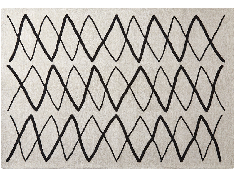 Organic hand drawing rug zigzag (S)