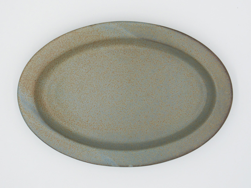 Ancient Pottery Oval Plate