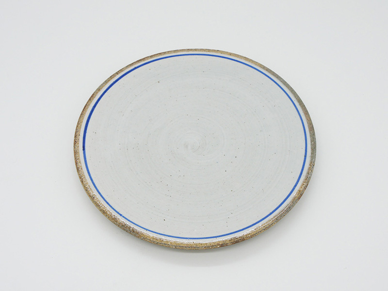 Bread and Rice - Line pottery plate (S)
