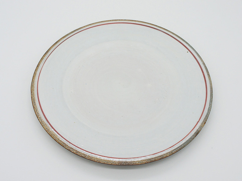 Bread and Rice - Line pottery plate (M)