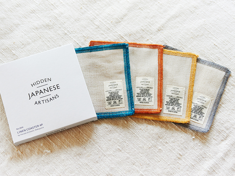 Hidden Japanese Artisans French linen coaster