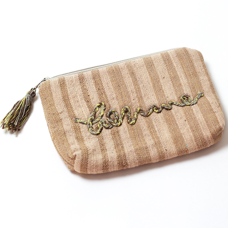 Natural dyed pouch