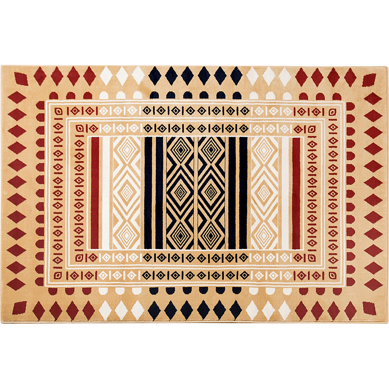 Folk rug by wilton we.